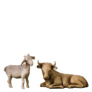 Willow Tree Ox And Goat Ochse Und Ziege 26180 Krippe Weihnachten Susan Lordi Bild