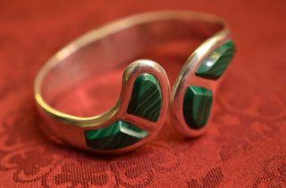 Schönes Massives Damenarmband Armreif Mit Steinen Mexico Sterlingsilber 925 Bild