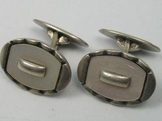 Klasse Manschettenknöpfe Um 1930 Aus 835 Silber Mit Perlmutt Bild