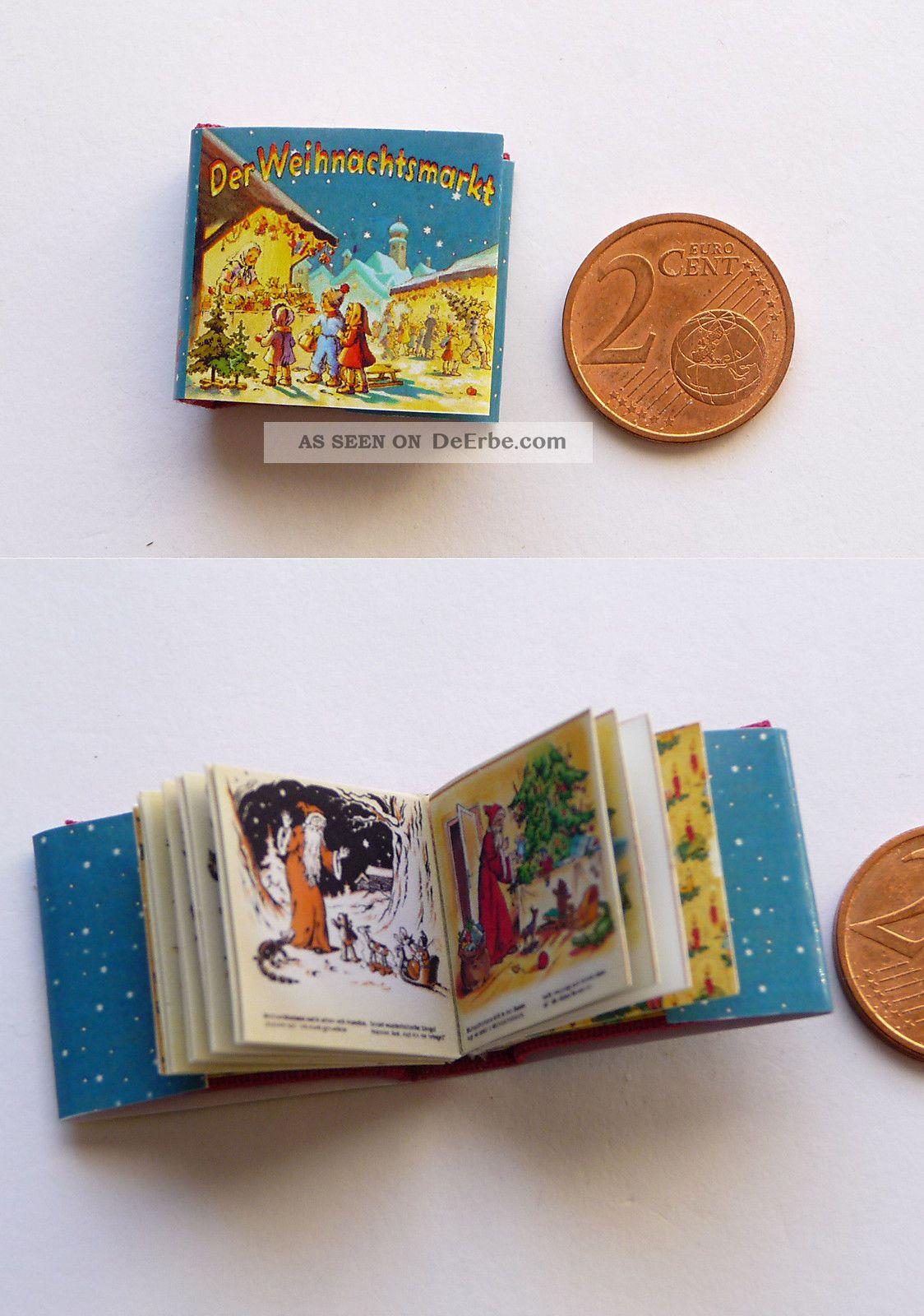Winziges Miniatur Buch Der Weihnachtsmarkt Für Die Puppenstube Puppenstuben & -häuser Bild