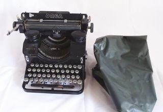 Antike Schreibmaschine Orga Modell 10 Mit Haube - Antike Raritäten Bild