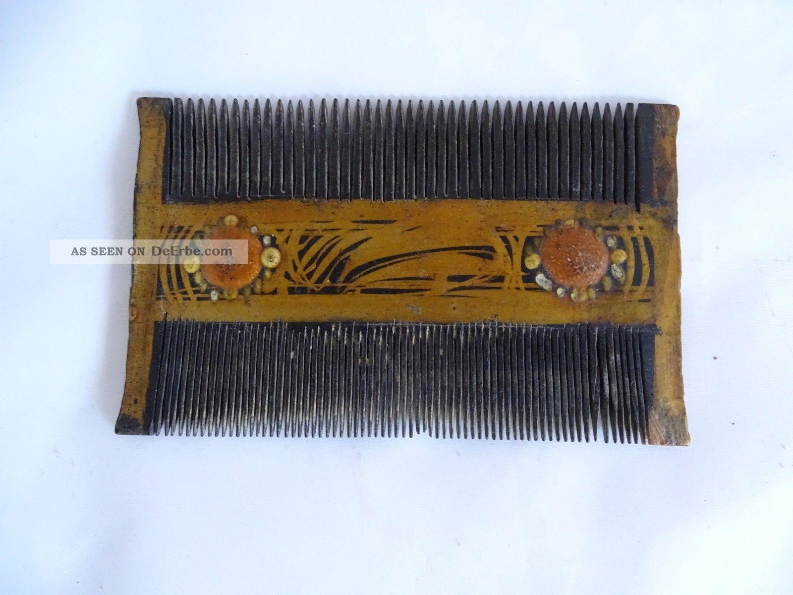 Herrlicher Antiker Haarschmuck Wohl Kamm Biedermeier Frisör & Barbier Bild
