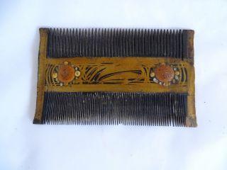 Herrlicher Antiker Haarschmuck Wohl Kamm Biedermeier Bild