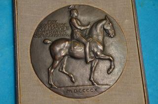 Alte Antike Preußische Bronzeplakette Imperator Germanorum Orig.  Schatulle 1910 Bild