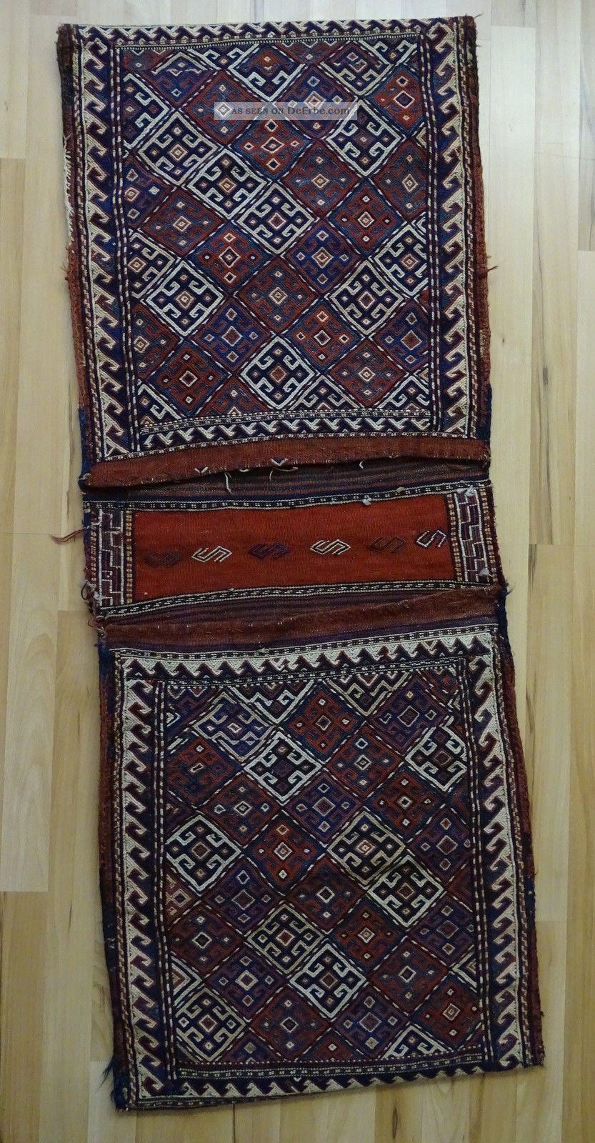 Echt Orient Teppich Persien Satteltasche Zertifikat Veit Ellwangen Teppiche & Flachgewebe Bild