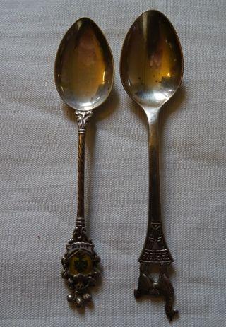 2 Andenkenlöffel Silberlöffel 800 Silber,  925 Sterling Silber Löffel Bild