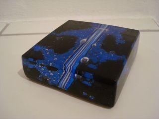 Moderner Eckiger Murano Paperweight Briefbeschwerer De Biasi Im Karton Bild
