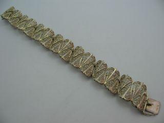 Handarbeit Wunderschönes Breites Filigranes Armband Aus 835 Silber Bild