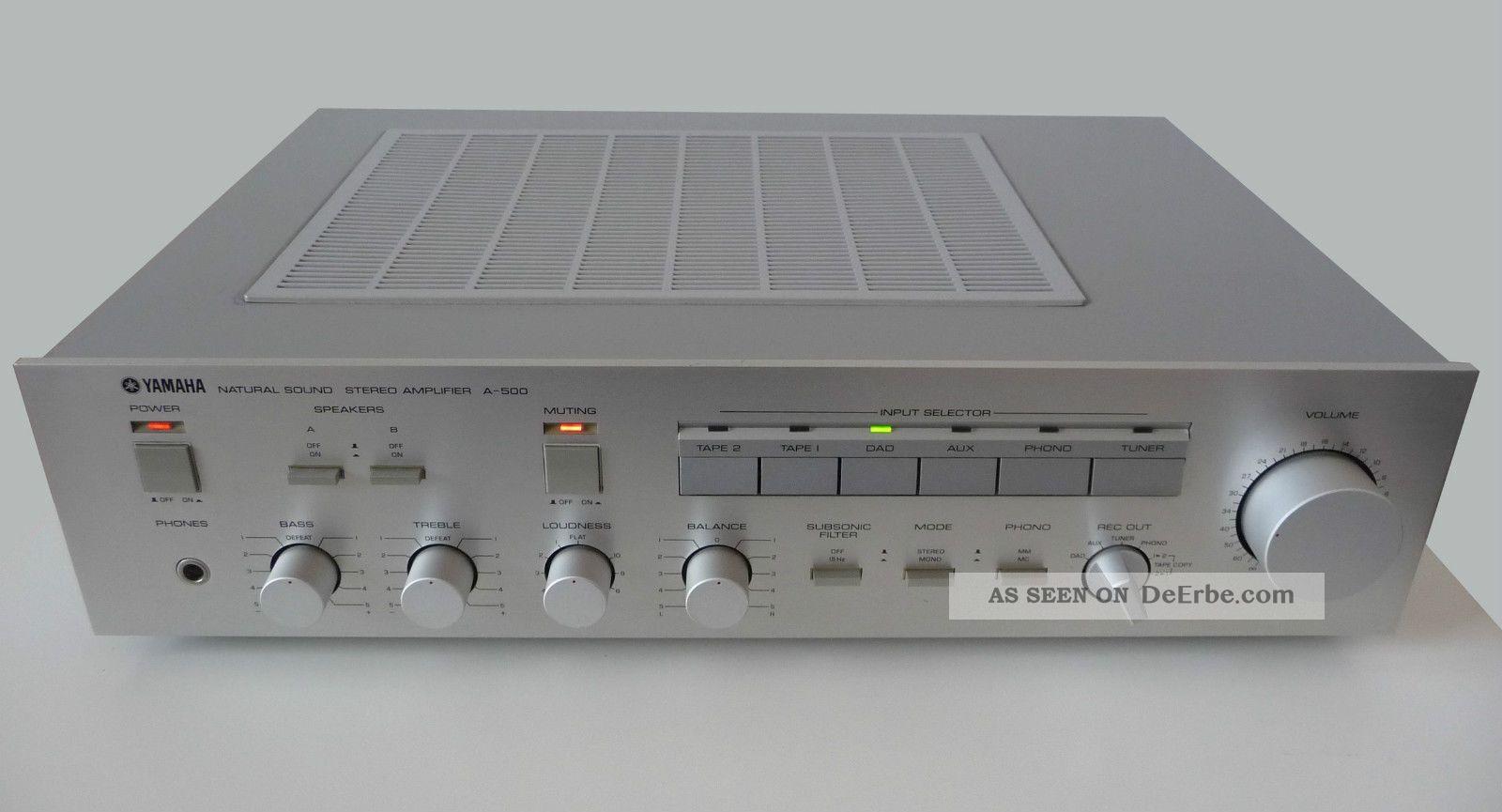Verstärker Yamaha A - 500 Amplifier Silber 380 Watt Technik & Geräte Bild