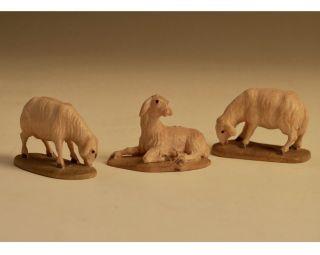 Krippenfiguren - Schafe - äsend Und Liegend Bild