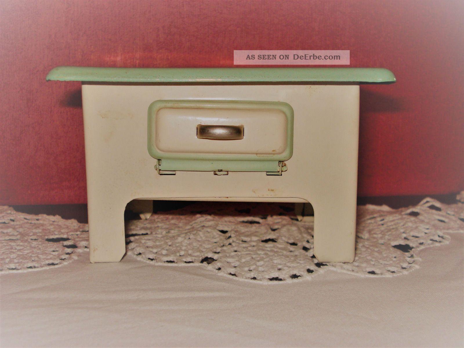 Herd Mit Backofen Für Puppenstube Puppenhaus Aus Den 50iger Jahren Puppenstuben & -häuser Bild