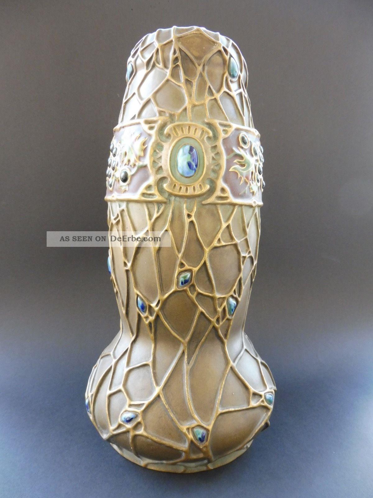 :: Ernst Wahliss Paul Dachsel Terex Austria Jugendstil Vase Art Nouveau Amphora 1890-1919, Jugendstil Bild