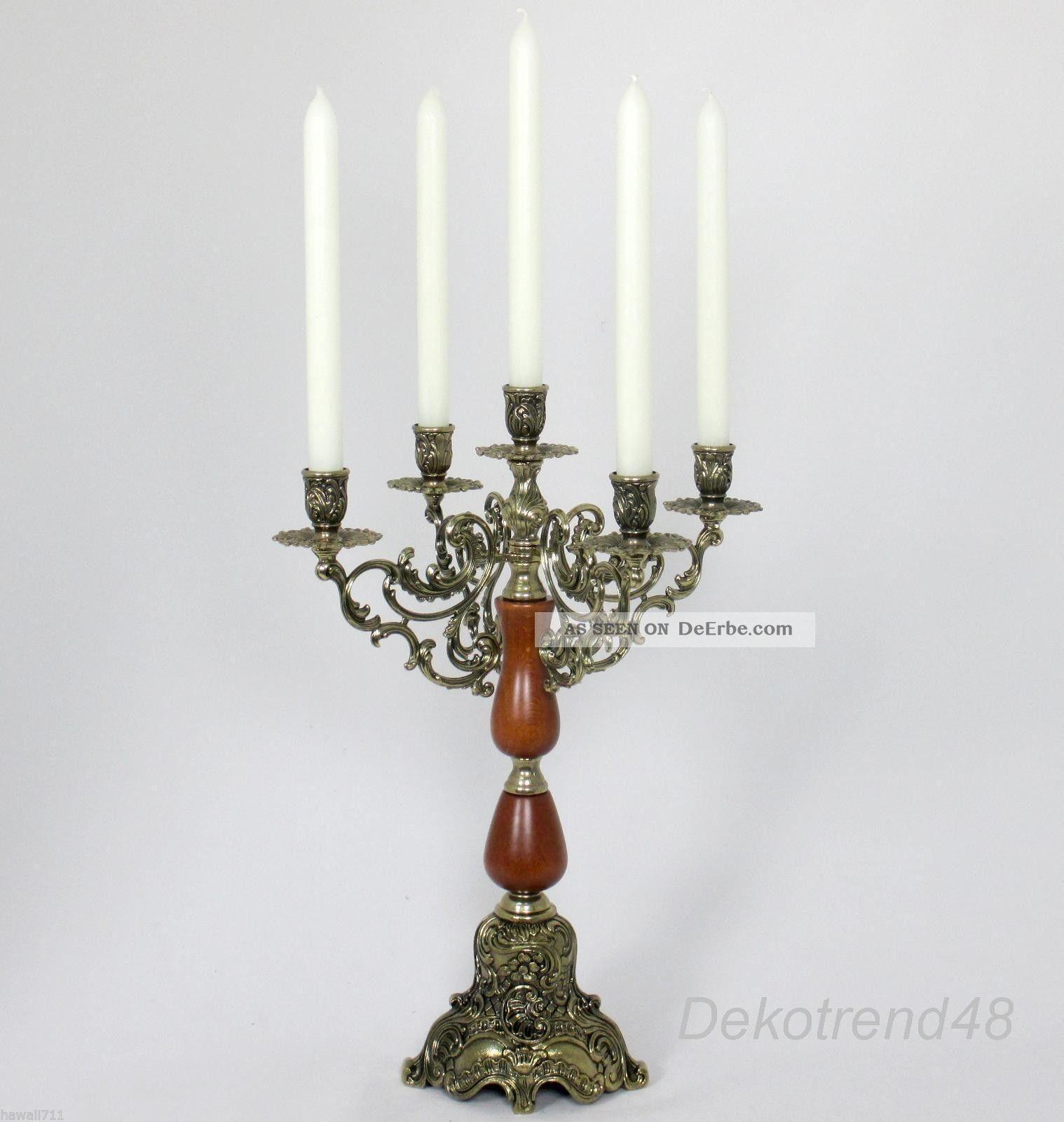 Kerzenleuchter 5 - Armig Tischleuchter Kerzenständer Antik Barock Leuchter Gefertigt nach 1945 Bild
