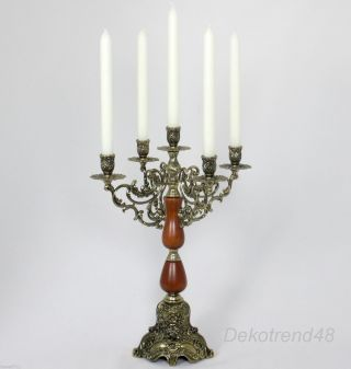 Kerzenleuchter 5 - Armig Tischleuchter Kerzenständer Antik Barock Leuchter Bild