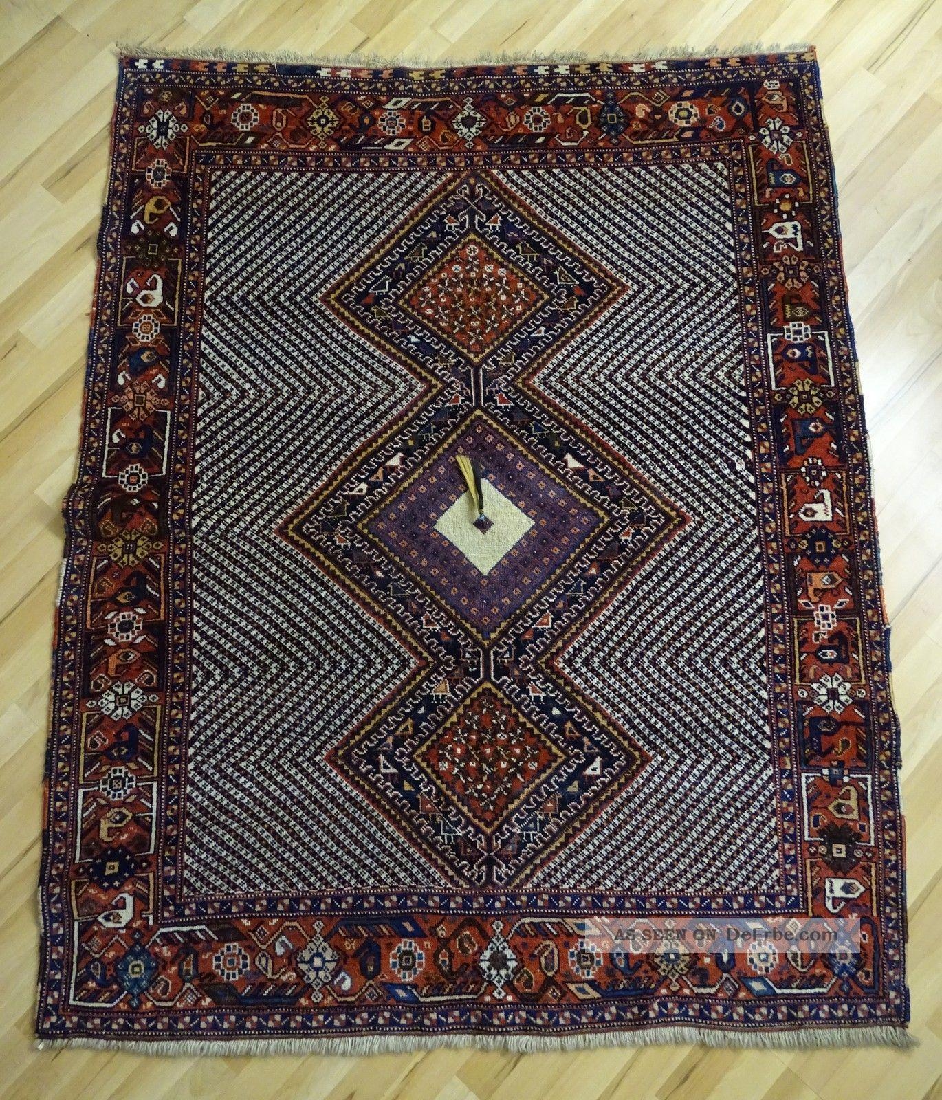 Süd - Persien Afshar Orient Teppich Mit Quaste 180 X 140 Geknüpft 1950 - 1960 Teppiche & Flachgewebe Bild