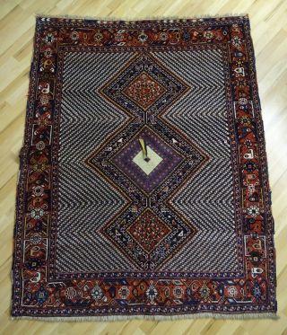 Süd - Persien Afshar Orient Teppich Mit Quaste 180 X 140 Geknüpft 1950 - 1960 Bild