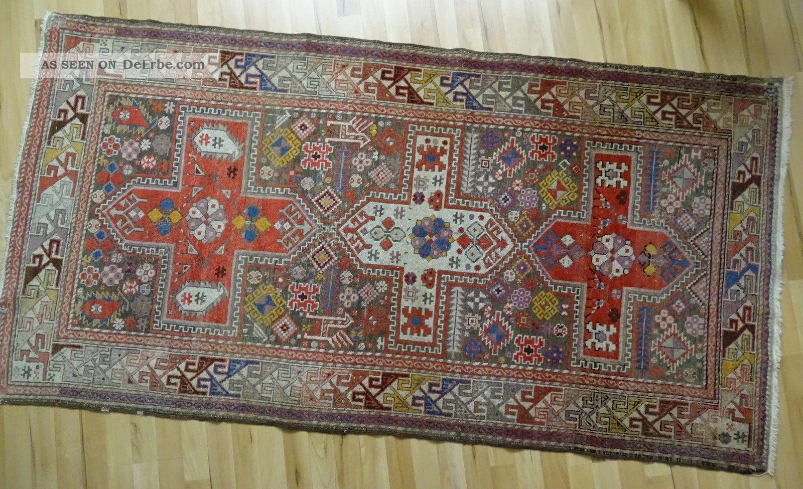 Zentral Anatolischer Orient Teppich 206x105 Geknüpft Teppiche & Flachgewebe Bild