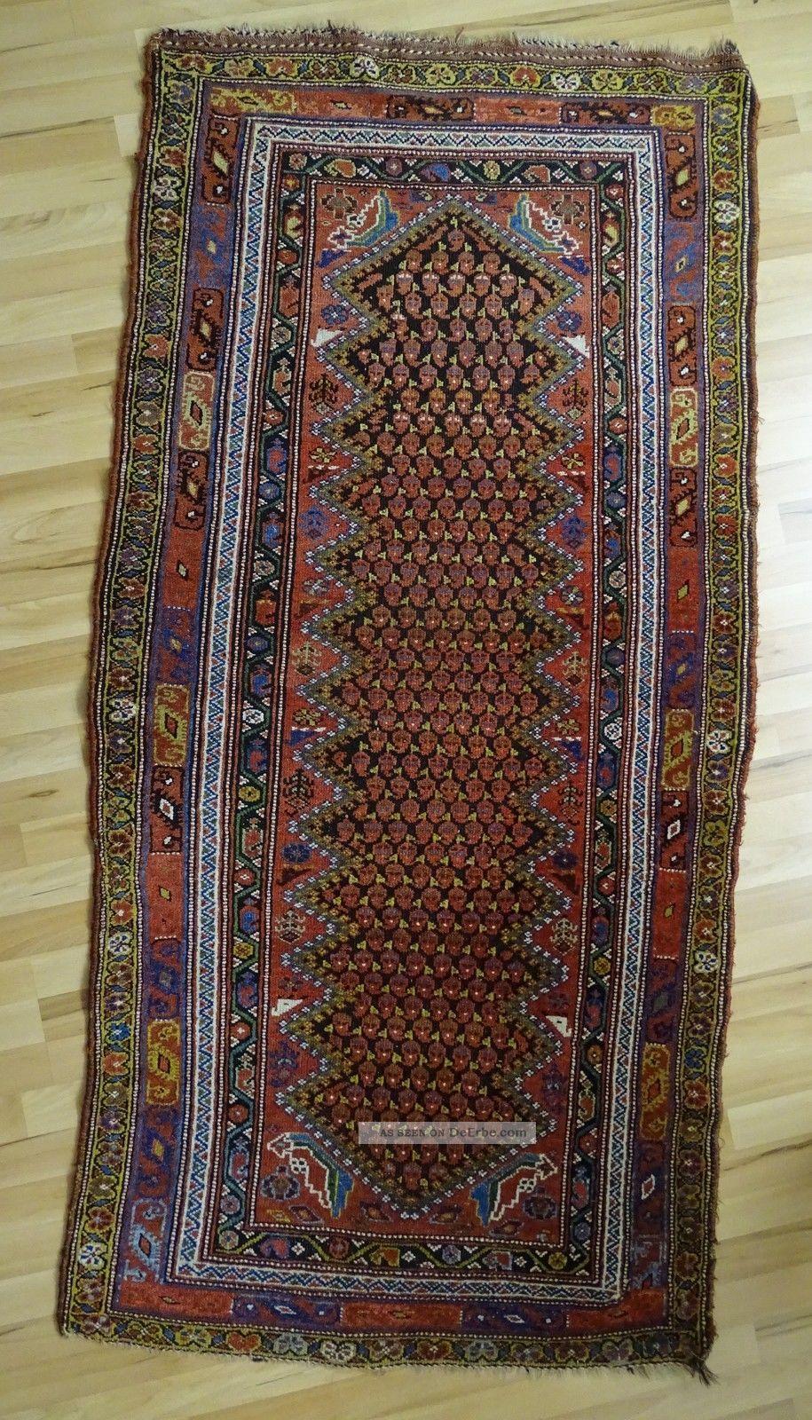 Nord West Persischer Orient Teppich Geknüpft 1900 Bis 1925 100x200 Teppiche & Flachgewebe Bild