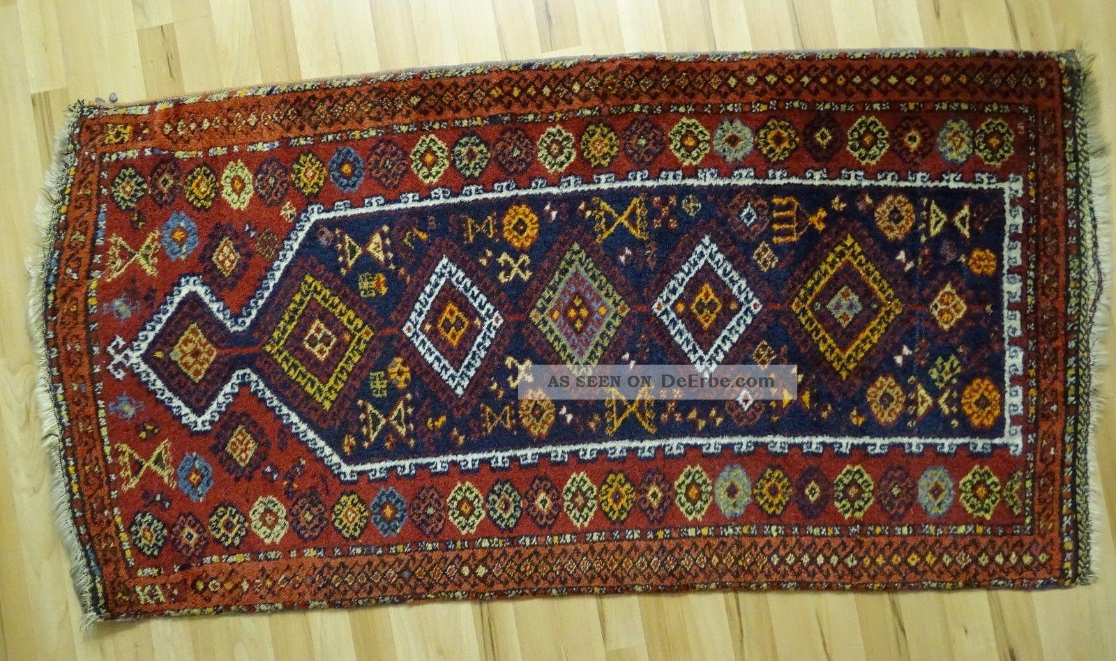 Zentral Anatolischer Bäuerlicher Gebetsteppich Orient Teppich 155x84 Geknüpft Teppiche & Flachgewebe Bild