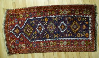 Zentral Anatolischer Bäuerlicher Gebetsteppich Orient Teppich 155x84 Geknüpft Bild