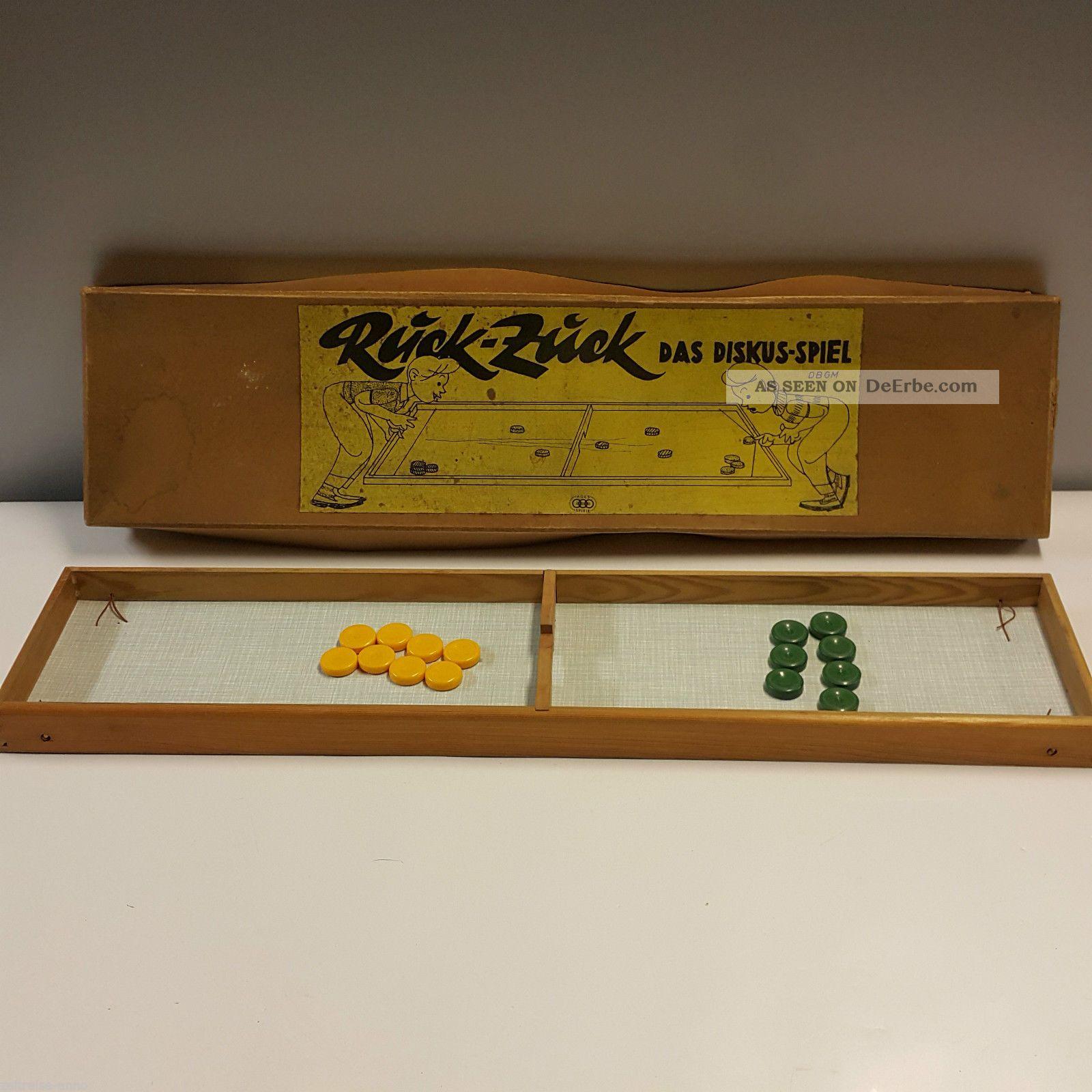 Ages Ruck Zuck Diskus Spiel Ddr 1950er Jahre Mit Ovp D.  B.  G.  M Alt Gefertigt nach 1945 Bild