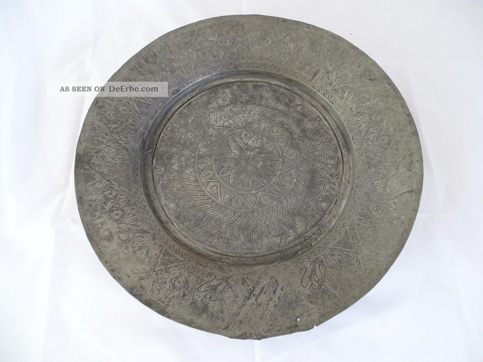 Große Dekorative Antike Orientalische Schale Essschale Großteller 58cm Islamische Kunst Bild