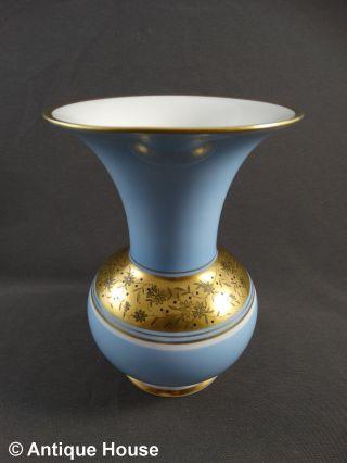 Weimar Porzellan Vase Hellblau Gold - Christa Bild