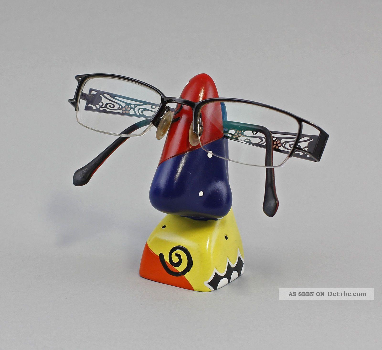 36104 Brillen - Halter Brillen - Ständer Brillenhalter Nase Bunt Ab 2000 Bild