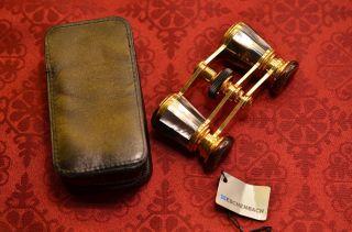 Gut Erhaltenes Goldfarbenes Eschenbach Manon Opernglas Bild