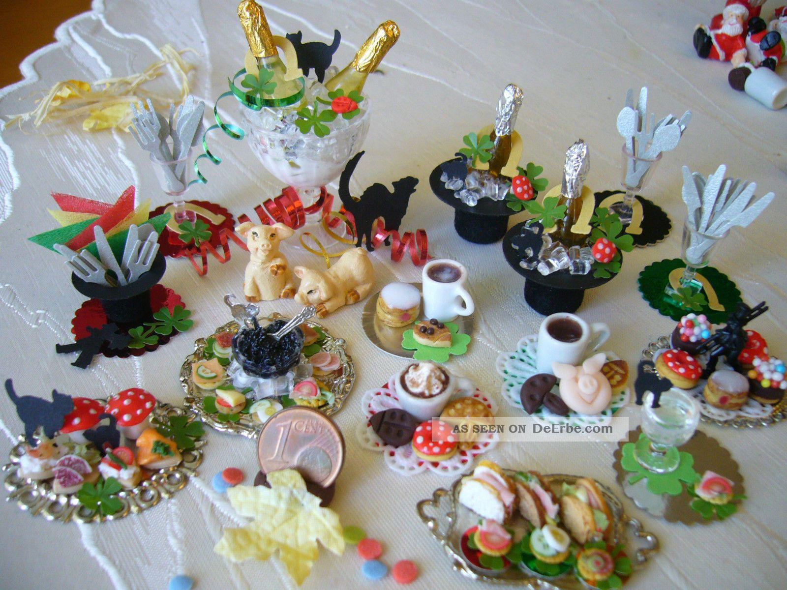 =glÜcksmarzipan Neujahr Silvester= Bäckerei Konditorei Kaufladen 1:12 By Hw Kaufmannsläden & Zubehör Bild