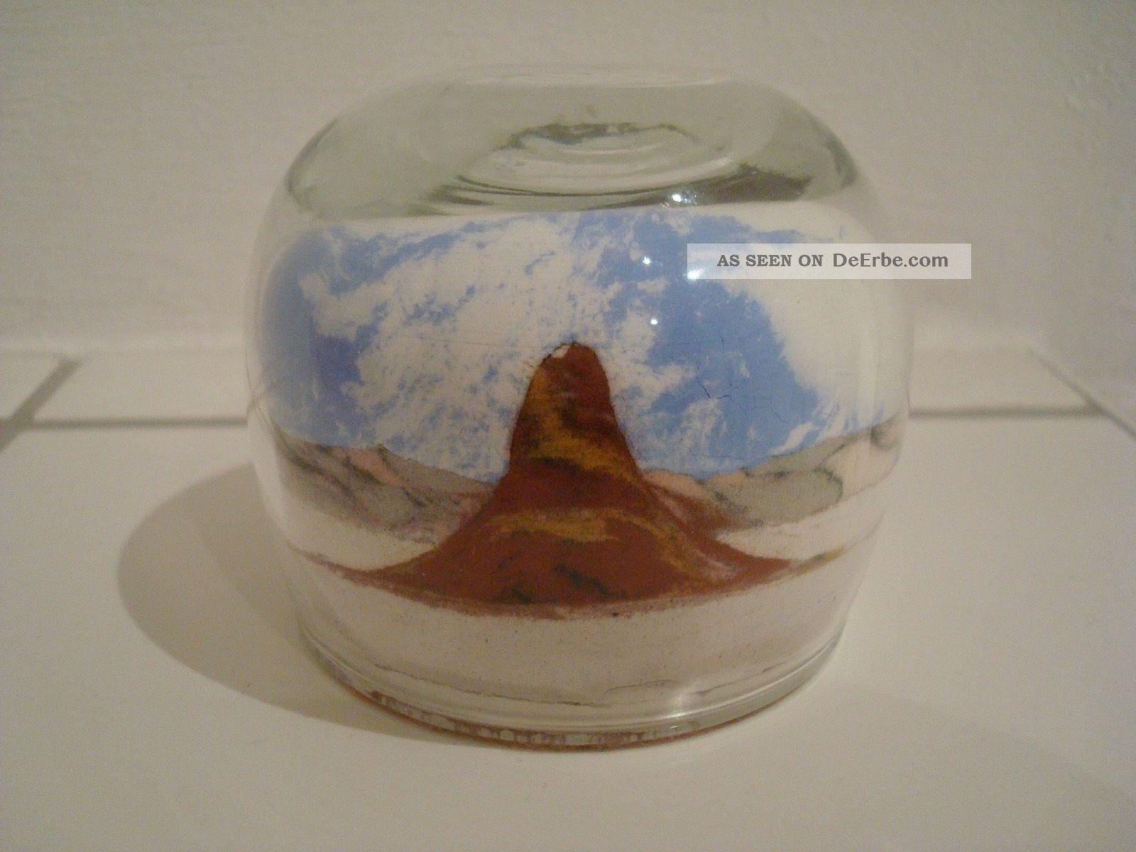 Glas - Paperweight Briefbeschwerer Landschaft Sandfüllung Dekorglas Bild
