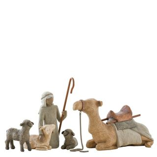 Willow Tree Shepherd & Stable Animals Hirte Kamel Schaf Ziege Krippe 26105 Bild