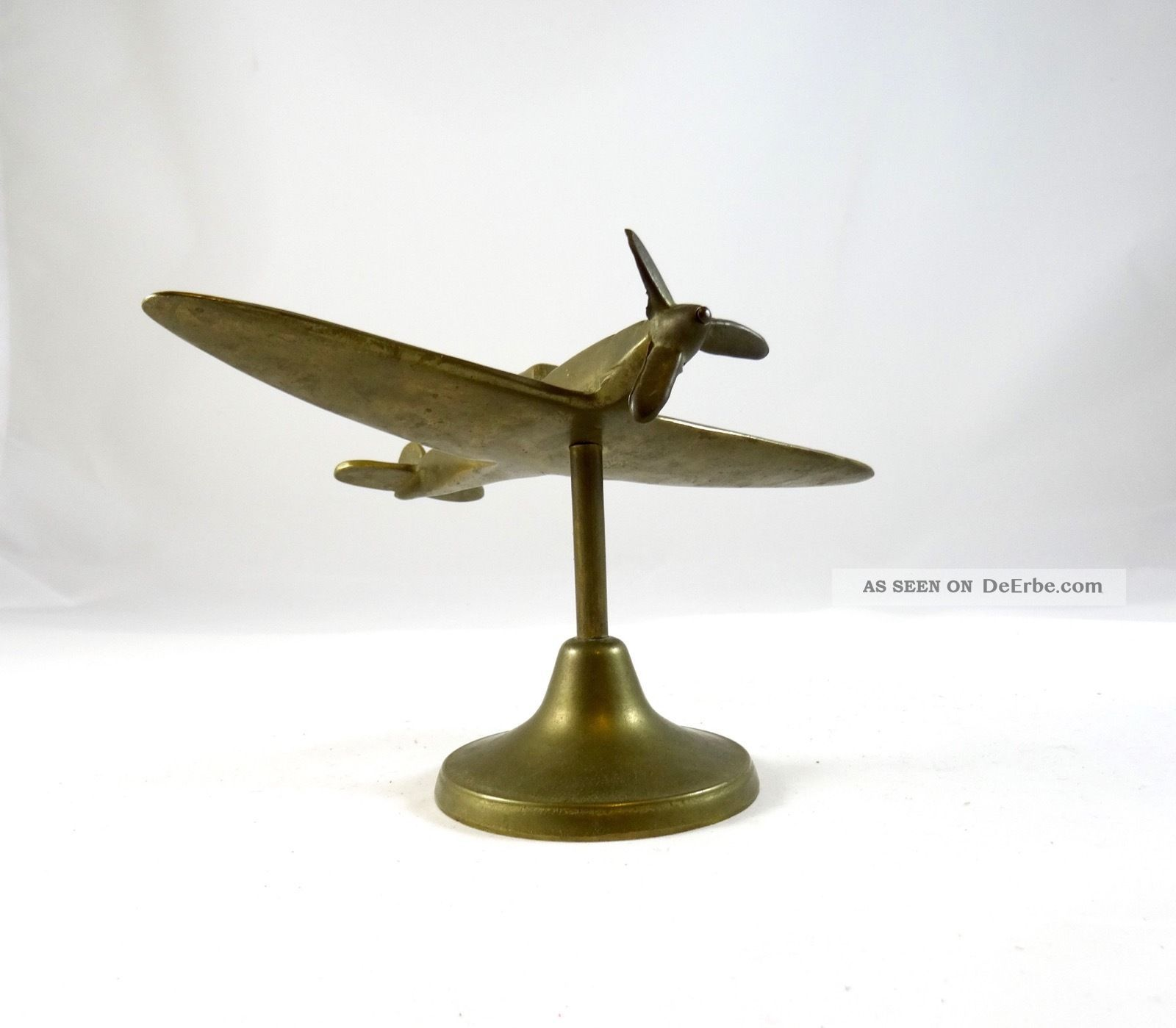 Art Deco Flugzeug Skulptur Messing Luftfahrt Frankreich 1940 1920-1949, Art Déco Bild