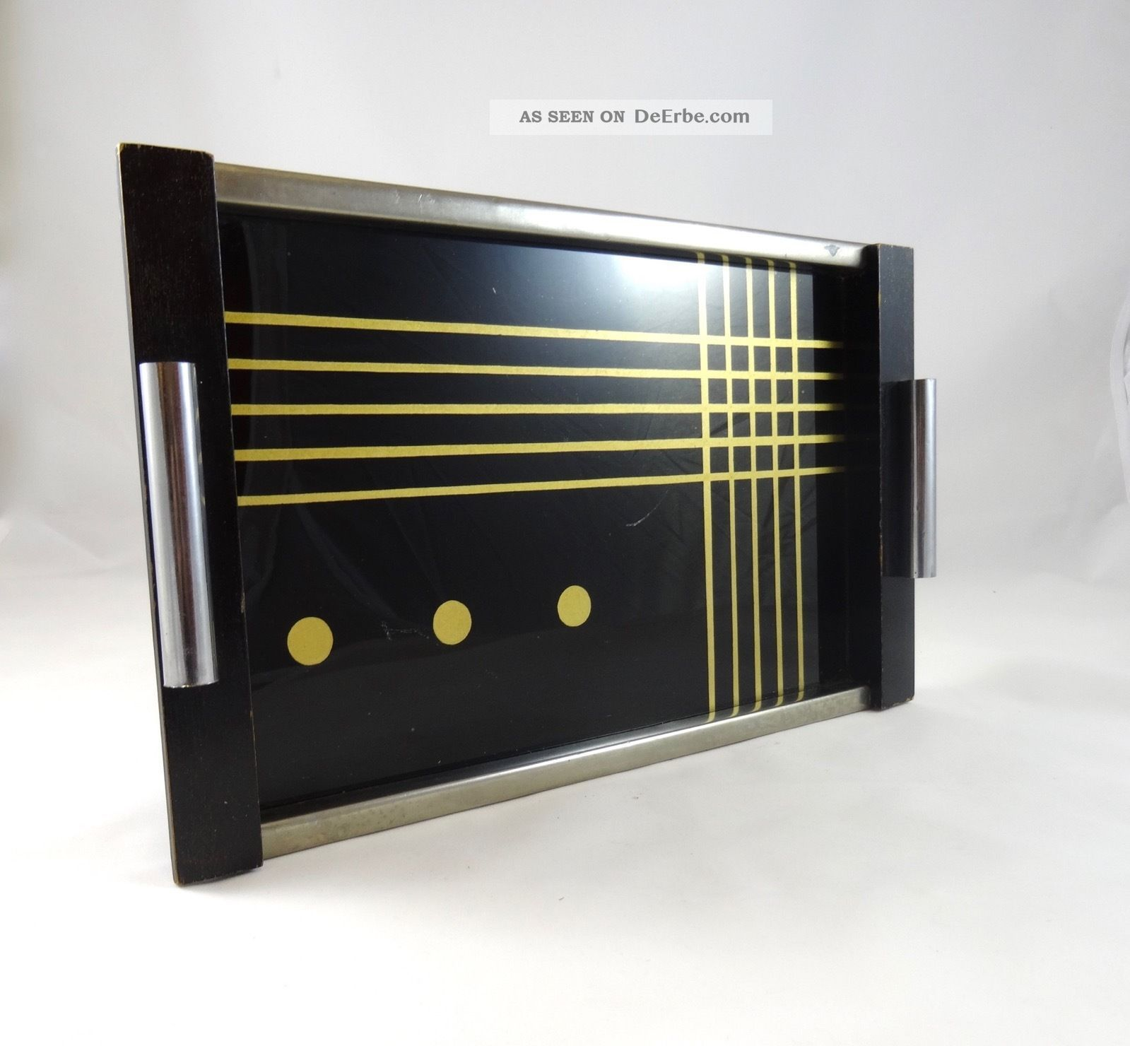 Avantgarde Suprematismus Bauhaus Tablett Geometrisch Art Deco Modernist Tray 1920-1949, Art Déco Bild