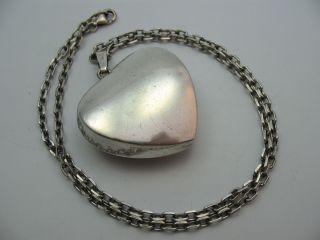 Franz Scheuerle Alter Designer Herz Anhänger Mit Kette Aus 925 Sterling Silber Bild
