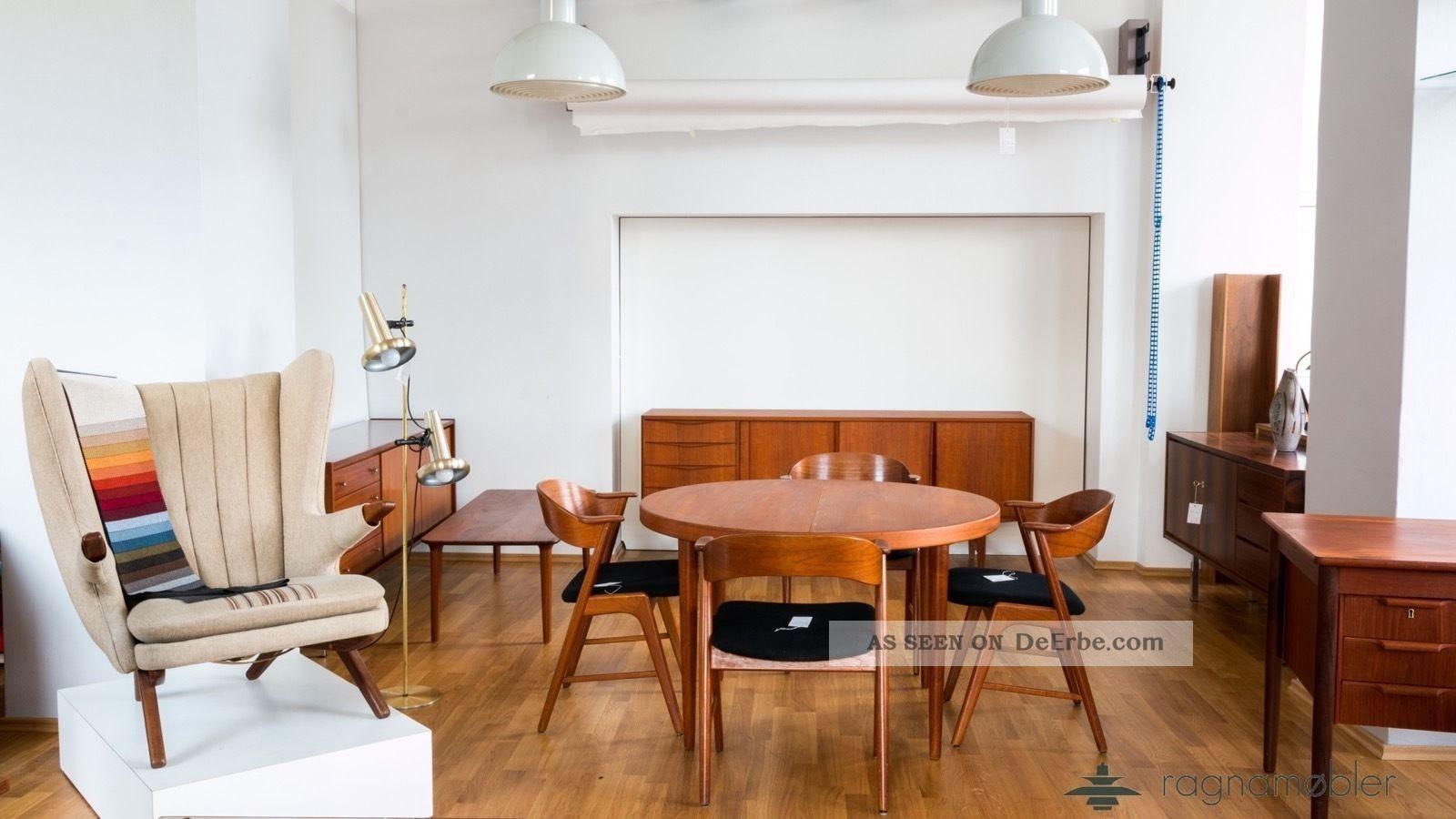60er Danish Design Gunni Omann Schreibtisch Teak Mid Century Modern Writing Desk 1960-1969 Bild