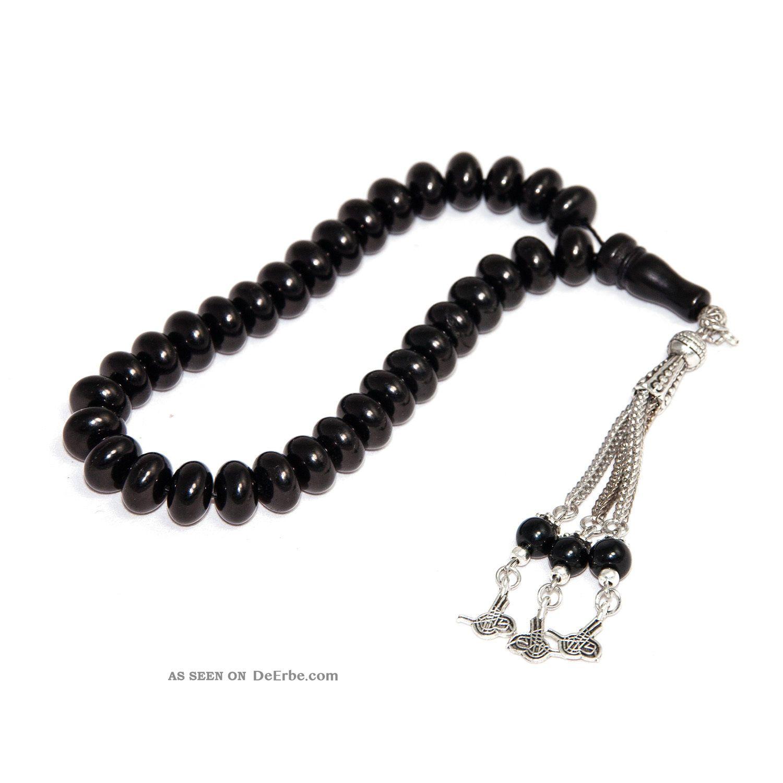 Tesbih Islamische Gebetskette 22cm Tasbih Kein Rosenkranz Holz Schwarz Cs - 4063hs Islamische Kunst Bild