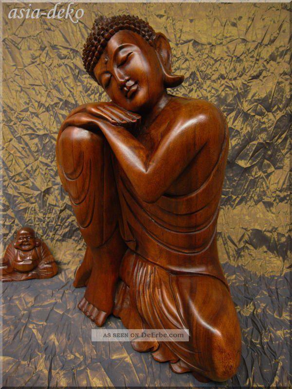 Anmutige Edle Schlafende Buddha Skulptur Statue Figur Zen Shaolin Artefakt Holz Ab 2000 Bild