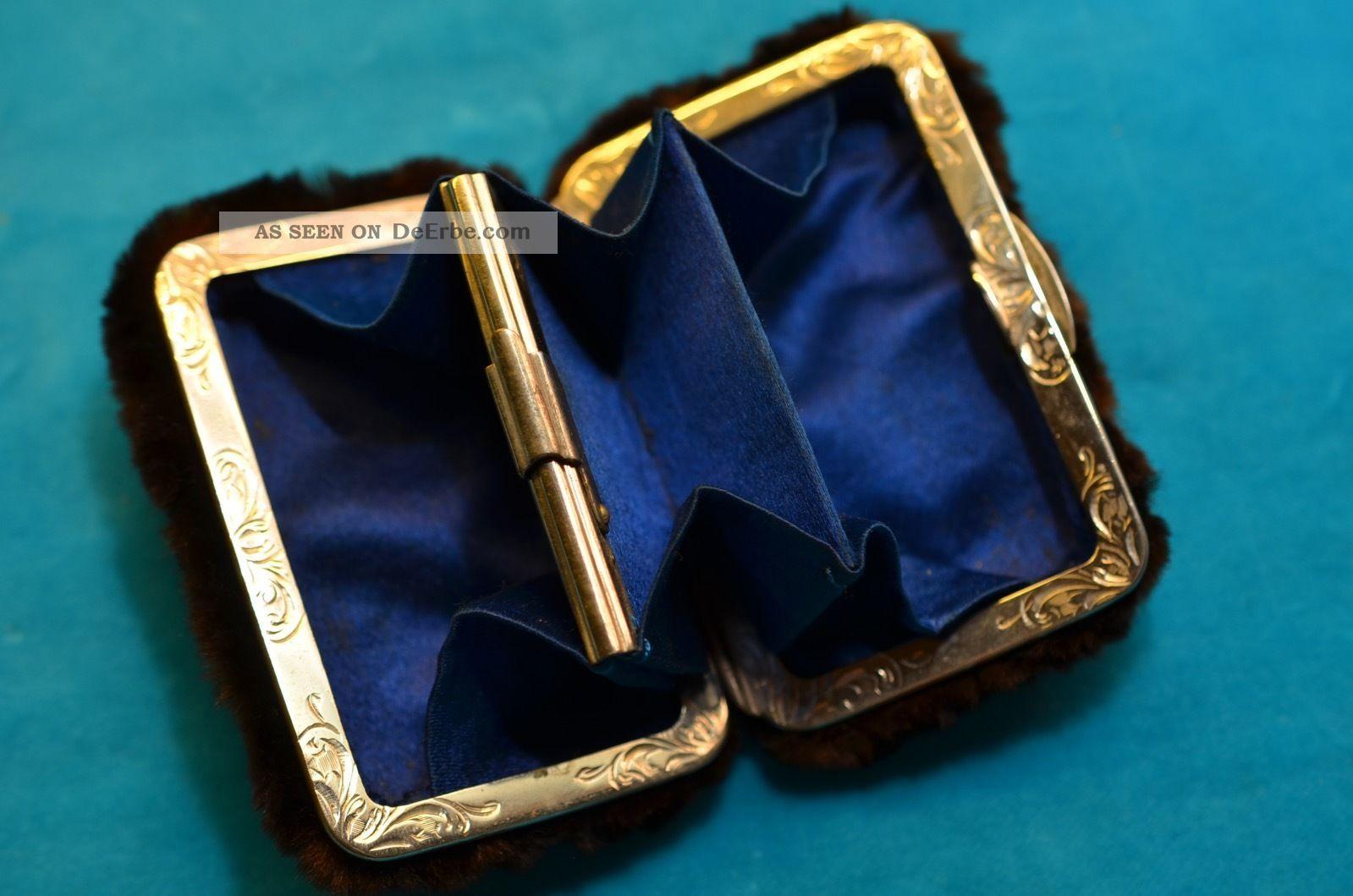 Gut Erhaltene Alte Ausgefallene Damen - Geldbörse Mit Fell überzogen Accessoires Bild