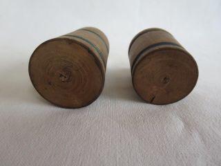 2 Uralte Holzgefäße Für Die Pk,  Erzgebirge Gedrechselt,  Um 1900 Bild