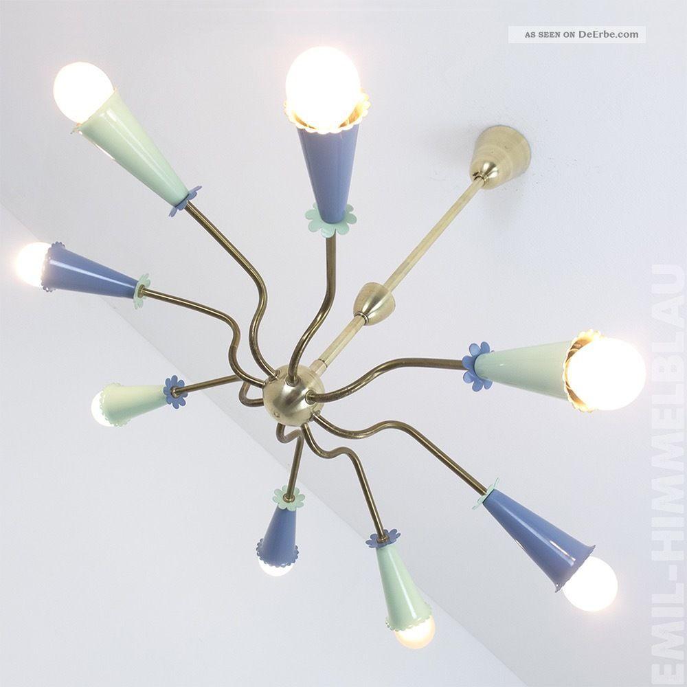 Sputnik 8 - Armig Decken Pendel Lampe 50er Spinne Rockabilly Vintage Pastell 1950-1959 Bild