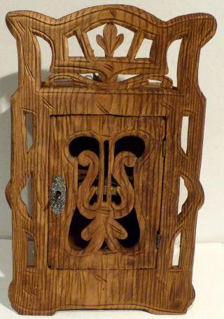 Altes Wand - Hängeschränkchen,  Kästchen Aus Holz Bild