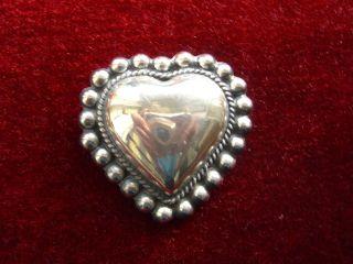 Antik Brosche Herz Silber Sterlingsilber 925 Gepunzt Nachlass Erbstück 21 Gramm Bild