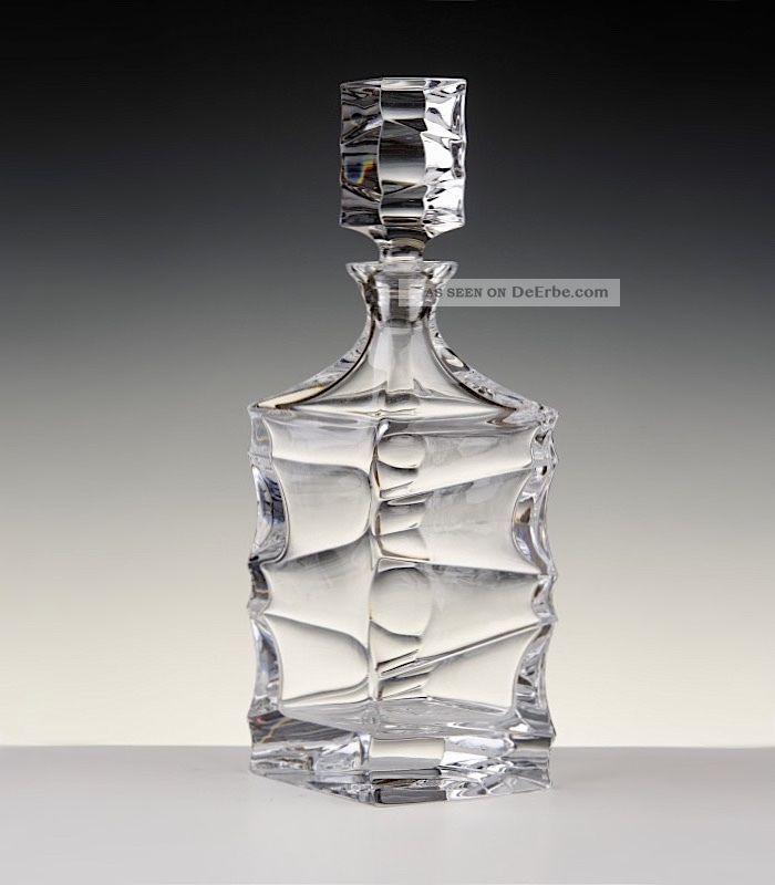 Bohemia 24 Pbo Bleikristall,  Serie Sail,  Whisky Karaffe 0,  8 L. ,  & Ovp Kristall Bild