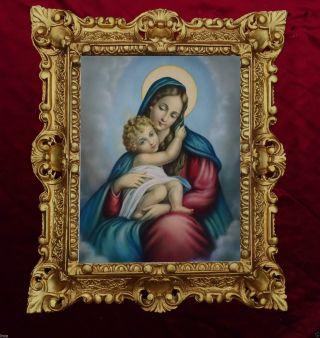 GemÄlde Madonna Delle Grazie Ikonen Bilder Antik Barock Look 45x38cm 345b Bild
