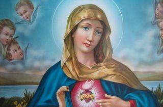 Die Heilige Maria Mutter Madonna Gottes Bild Antik Barock 77x42 Cm Ikonen Bild