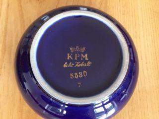Kpm Echt Kobalt Deckeldose Mit Goldrand Und Bemahlung Bild