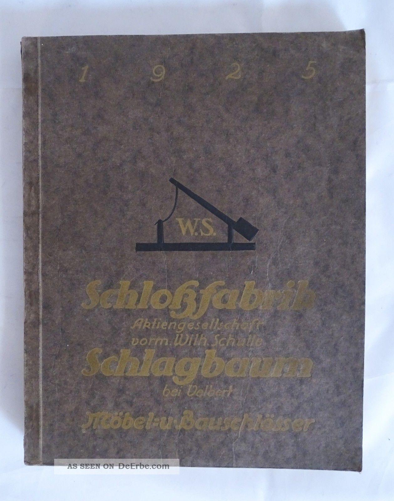 Musterbuch Schlossfabrik Schlagbaum Wilh Schulte Velbert Möbel Bauschlösser 1925 Original, vor 1960 gefertigt Bild