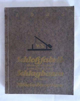 Musterbuch Schlossfabrik Schlagbaum Wilh Schulte Velbert Möbel Bauschlösser 1925 Bild