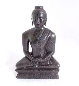 Sehr Schwere Wohl Ebenholz Figur Indisch Ganesha Shiva Hanuman Radha Krishna Bild